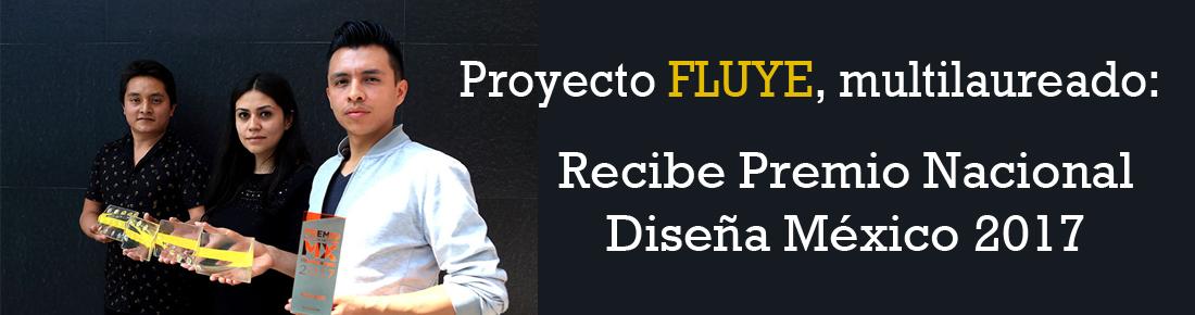 Proyecto FLUYE, multilaureado: Recibe Premio Nacional Diseña México 2017